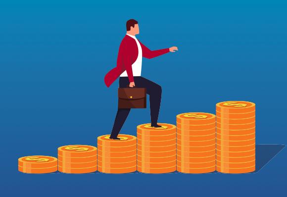 サラリーマンが副業で毎月50万稼ぐ5ステップを紹介する画像です