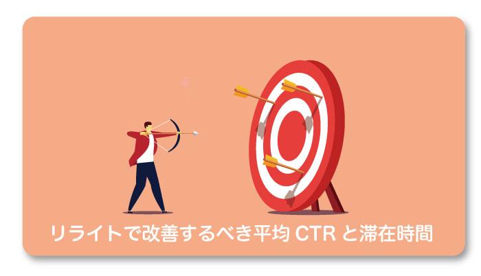 リライトで改善するべき平均CTRと滞在時間