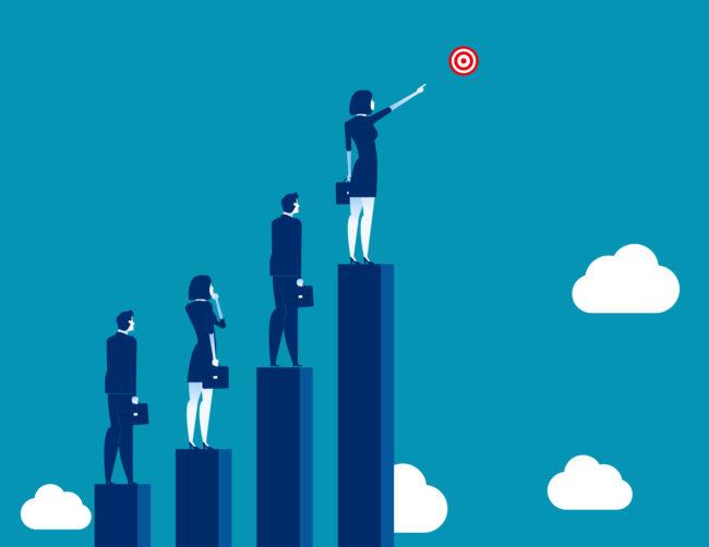 サラリーマンがブログで稼ぐための5ステップのイメージ図です。