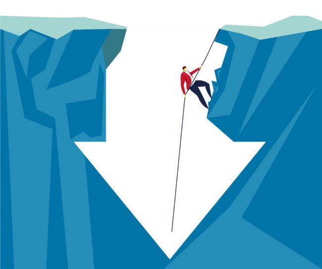 仕事のモチベーションが上がらない原因3つのイメージ図です。