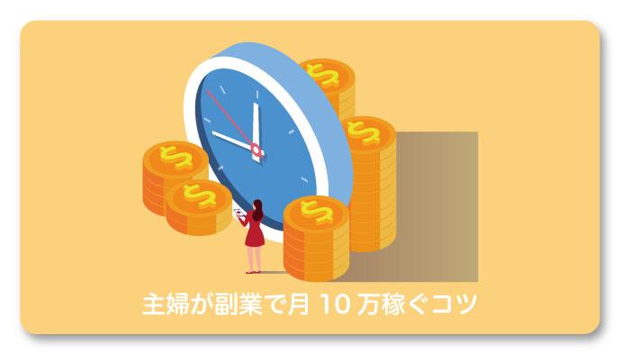 主婦が副業で月10万円稼ぐコツ