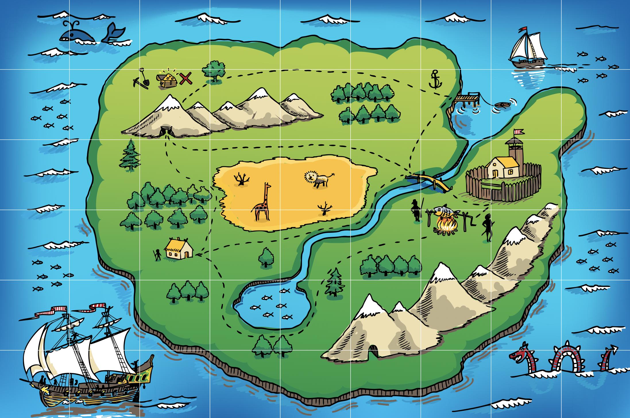 宝探しの地図