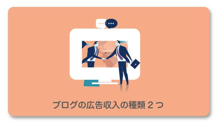 ブログの広告収入の種類2つ