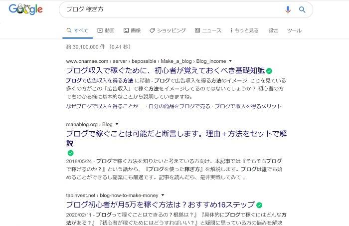 ブログ 稼ぎ方と検索した画像