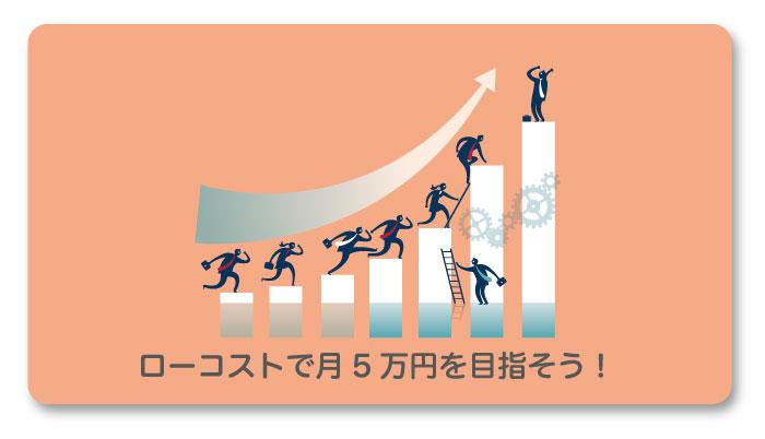 ローコストでブログ開設して月収5万円を目指そう!